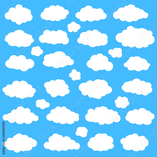 Foto op Plexiglas Hemel Clouds set on blue sky background