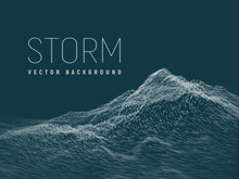 Storm .Vector Background