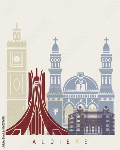 Algiers skyline poster Tapéta, Fotótapéta