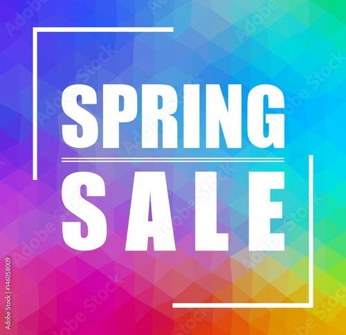 spring sale triangular background can be used for wallpaper flyers