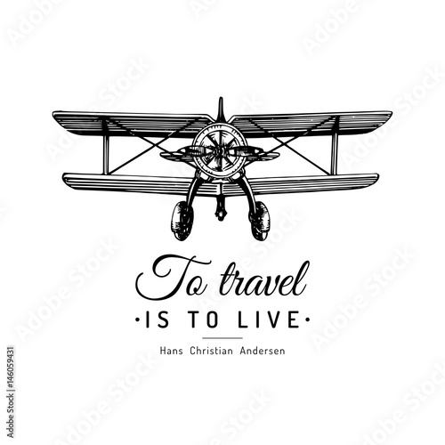 Obrazy wieloczęściowe ilustracja samolotu z napisem