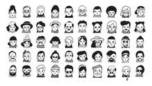 Big Set Of People Avatars For ...