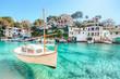 canvas print picture - Mallorca Cala Figuera Boot Spanien Balearen Bucht
