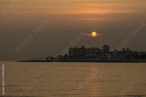 Plakat wschód słońca w Montevideo