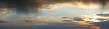 Evening Rain Clouds Sky Panorama