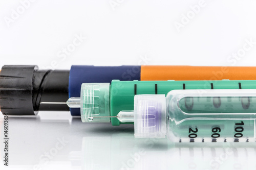 Insulin injection needle or pen for use by diabetics Wallpaper Mural