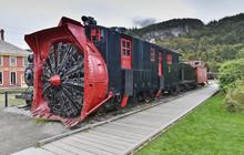 Old Snow Blower Train At Skagway, Alaska