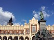 Statue auf dem Marktplatz in Krakau