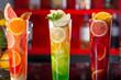Fresh cocktail juice made of oranges