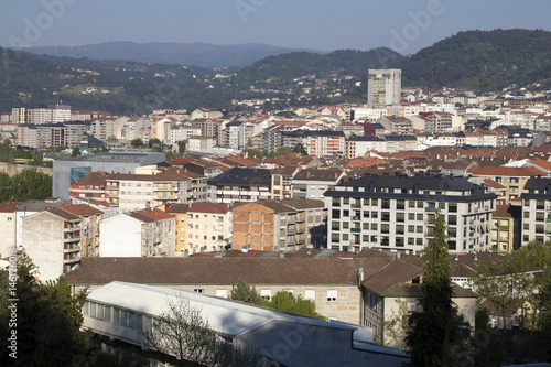 landscape of the city of orense, galicia, spain