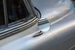 Detail of Silver oldtimer car