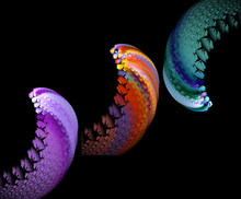Abstract Multicolored Wave Of ...