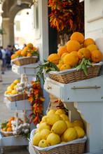 Fresh Crop Of Oranges And Lemo...