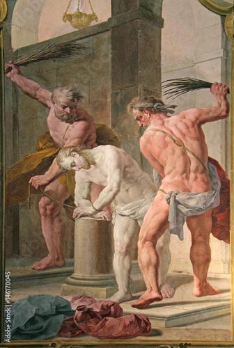 Photo  Cristo flagellato; affresco di Biagio Bellotti nella Certosa di Garegnano; Milan