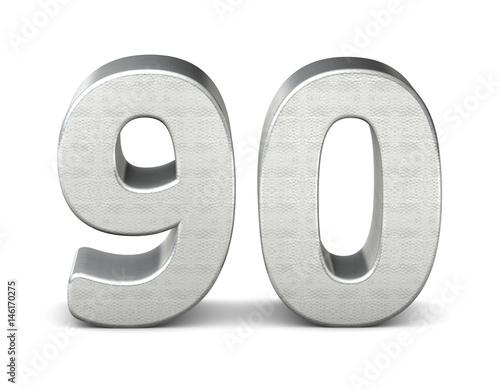 Photo  90 zahl silber 3d number silver struktur