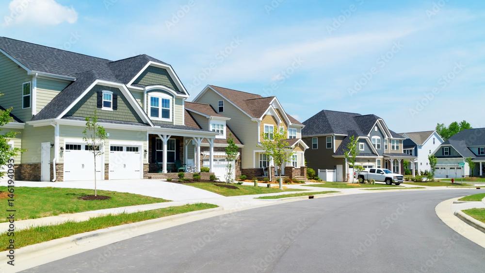 Fototapety, obrazy: Street of suburban homes