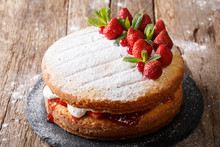 Home Victoria Sponge Cake, Dec...