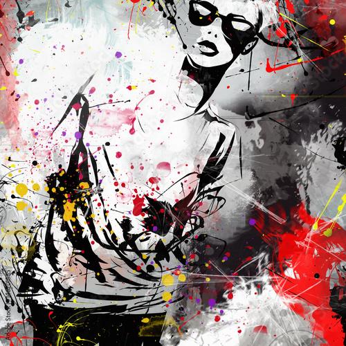 Modern teenage girl Wall mural