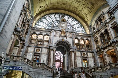 Deurstickers Antwerpen Interior Antwerp Central Station