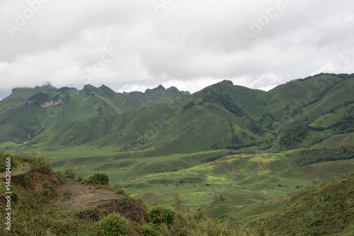 Foto op Canvas Khaki landscape of mountains view in loas