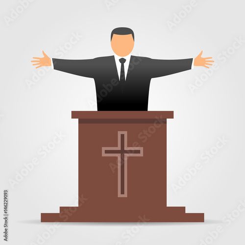 Fotografie, Obraz  Preacher icon