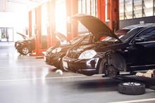 Black Car Repair Station With ...