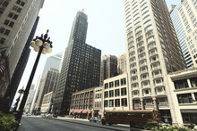 Street View Of Chicago Downtow...