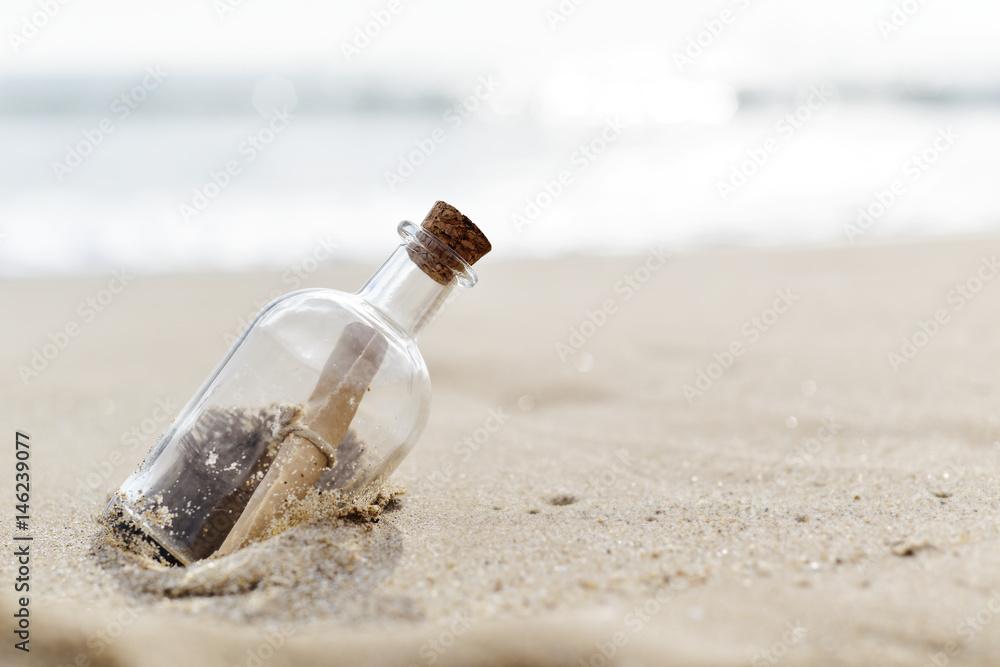 Fototapety, obrazy: message in a bottle