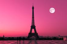 Eiffel Tower In Paris At Dawn, France