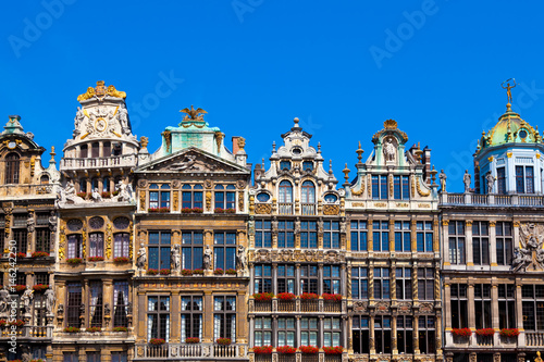 Spoed Foto op Canvas Brussel Houses on Grand Place, Brussels, Belgium