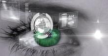 Digital Composite Image Of Eye Interface