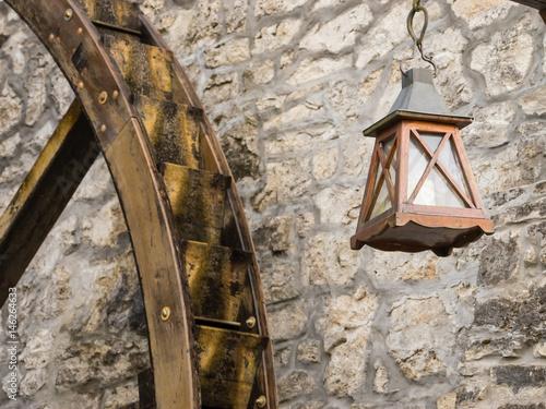 Water wheel with lantern