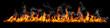 canvas print picture - Fire panorama on a black background.