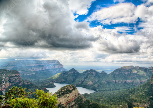 Tuinposter Zwavel geel Landscape at the Blyde River Canyon, South Africa