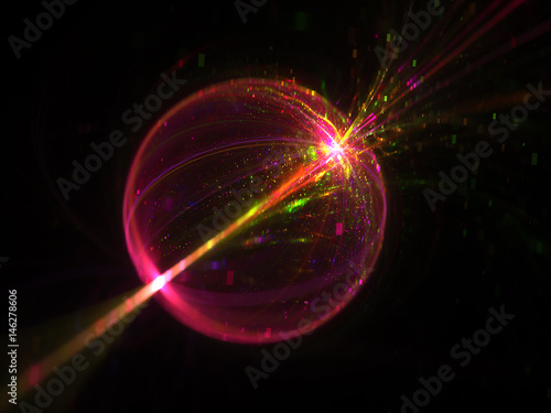 Fotografie, Obraz  Shine Transparent Babble Background   - Fractal Art