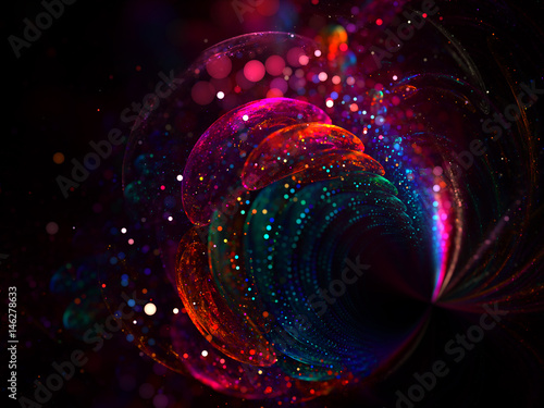 Shine Sequins Background with Bokeh Effect - Fractal Art