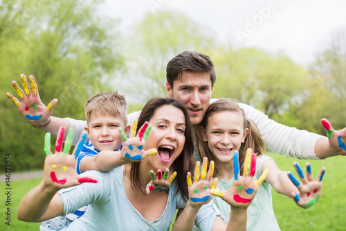 family in color love Tablou Canvas