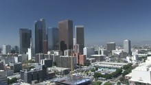 Views Of Downtown Los Angeles City, Cityscape And Traffic, California - 2