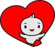Leinwandbild Motiv herz liebe verliebt süß niedlich klein baby kind ente vogel comic cartoon