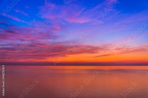 Obraz Sea and sky in Twilight time - fototapety do salonu