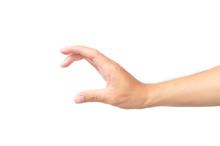 Man Hand Holding Something Lik...