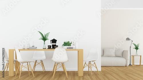 Fotomural  Relax space in hotel - 3D rendering