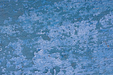 Texture Of An Old Aged Blue Paint On  Wooden Textured Surface. Closeup Picture Of An Old Wooden Boat Painted In Blue