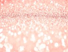 Pink Rose Gold Glitter Bokeh Texture Background