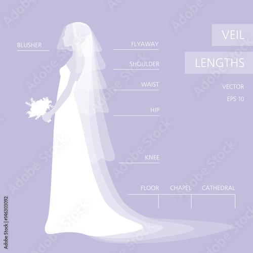 Wedding Veil Lengths Fototapeta