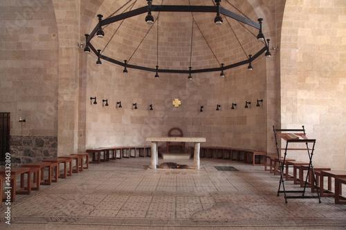 Obraz na płótnie Altar at the Church of the Multiplication, Tabgha, Israel.