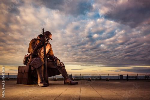 Fototapety, obrazy: British Tommy reflecting at Seaham Beach