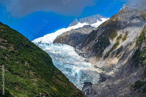 Foto op Aluminium Oceanië Franz Josef Glacier, Located in Westland Tai Poutini National Park on the West Coast of New Zealand