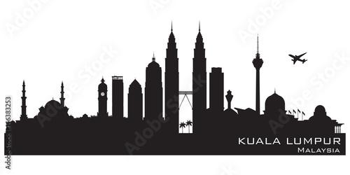 Photo  Kuala Lumpur Malaysia city skyline vector silhouette