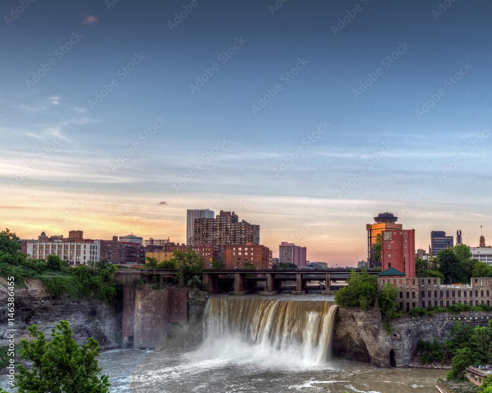 Fototapety, obrazy: High Falls in Rochester